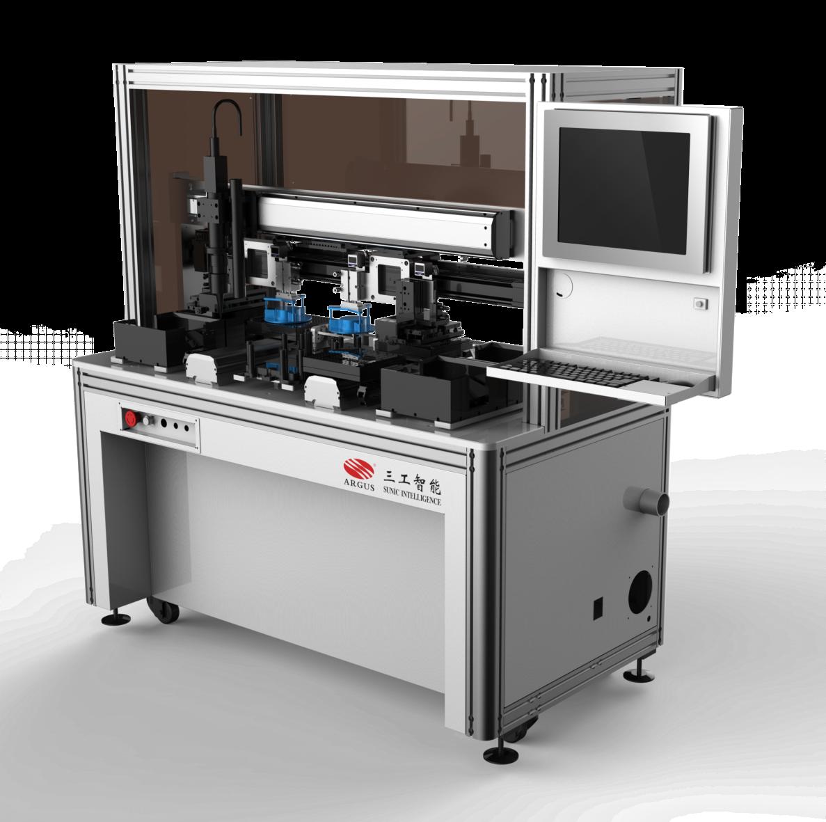 Automatic laser scribing splitting machine